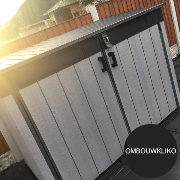 Kunststof kliko ombouw voor drie containers