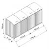 AfmetingenContainerOmbouwvoor4containers
