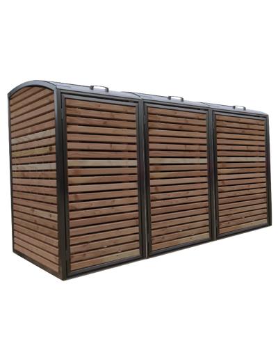 Douglas RVS Ombouw voor drie containers
