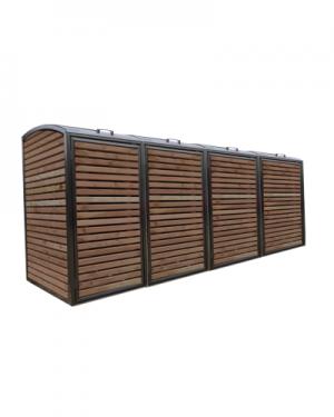 Douglas RVS Ombouw voor vier kliko's of containers
