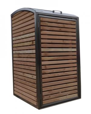 Douglas RVS Ombouw voor 1 kliko of container