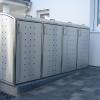 RVS Ombouwkliko voor vier kliko's of containers