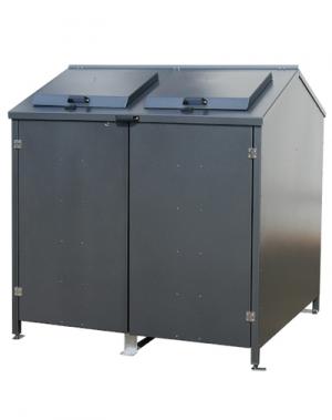 Containerbox afvalcontainer van 1100L grijs