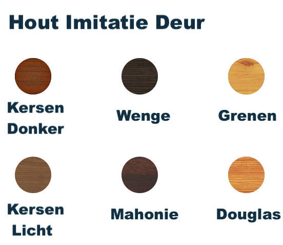 Hout Imitatie Deur kleur