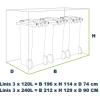 Linis Afmetingen 3 x 120:240 kliko container