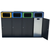 Afval Scheiden Ombouwkliko prullenbak 4x 120L